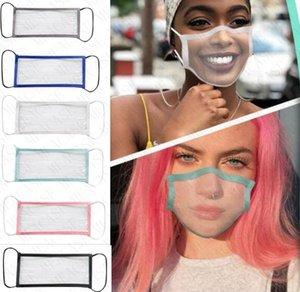 Klare Lippenlesen Gesichtsmaske mit sichtbaren Lippen Fenster Facemasks Lippen Expression Schild Deaf Teaching Masken Für Deaf Mute Beeinträchtigte D8511 Hearing
