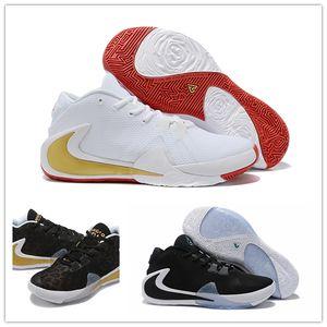 2020 heiße Verkaufs-ZOOM Griechisch-Freak 1 Giannis Antetokounmpo Schwarz Orange Gold-GA I 1S Signature Herren-Basketball-Schuhe Trainer GA1 Sport-Turnschuhe