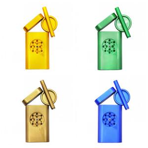 Personalizado tubos de metal de liga Moinho Set Dugout Alumínio Cigarette Grinders Cachimbo Terno Tobacco caso de armazenamento Ferramentas Homens 30XB Útil H1