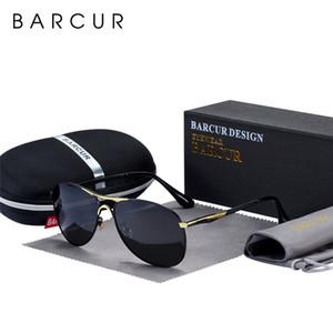 Diseño Vidrios para hombre Oculos masculinos Sun BARCUR alta calidad del macho gafas de sol polarizadas de los hombres gafas de sol de marca Marca s8712