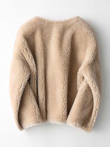 Real casaco de pele de lã Jacket Outono Inverno Casaco feminino Roupa 2020 Sheep coreano Vintage Shearling Suede Lining Abrigo Mujer ZT3587