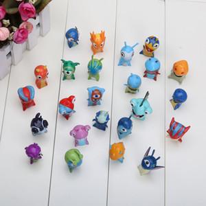 Action 24pcs  Set 4 -5cm Cute Cartoon Slugterra Pvc Action Figures Toys Western Animiation Unisex Model Toys