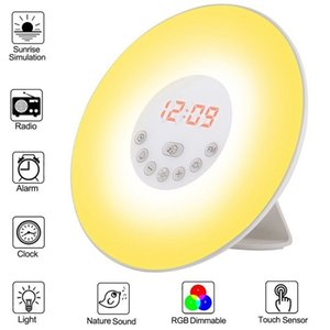 BRELONG Wake-up Light Smart LED-Nachtlicht Wecker bunt leuchtende Atmosphäre Lichter 1 PC