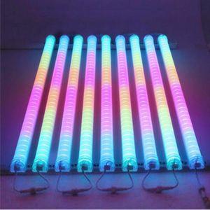 Светодиодный неоновый бар 1 м DC24V DMX512 RGB LED цифровая трубка / светодиодная трубка RGB цвет водонепроницаемый для украшения мостового моста