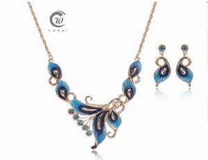 nobre de baixo preço de alta qualidade da jóia da noiva jóias de diamante de cristal da senhora colar earings set 6.5ttttttyt