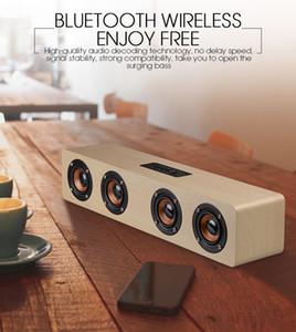 Top Sons Qualité Boisé Hand Made sans fil Bluetooth mini haut-parleur Haut-parleur extérieur Bluetooth étanche peut être utilisé comme Power Bank