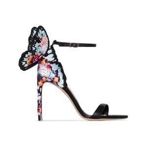Sophia Webster sandali da sposa disegno donne farfalla femminile a spillo Sandali con tacco partito del vestito da sera delle signore nero rosa sandalo romano