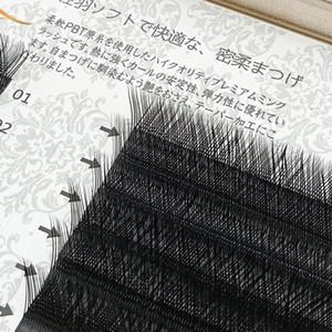 0,07 millimetri Y volume di forma estensione delle ciglia incrociato YY ciglia finte tessere morbido naturale lungo compone l'attrezzo ciglia facile fan