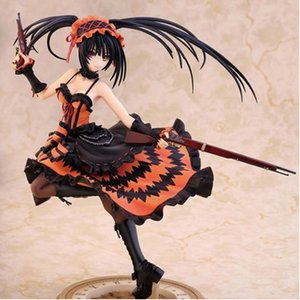 Sexy Japan Anime Date A Live Action figure Nightmare Tokisaki Kurumi with pistol 23cm model collection kids gift figurine doll MX200727