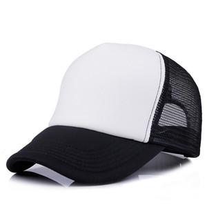 Fashion Men Women Casual Mesh Baseball Hat Summer Outdoor Lady Ponytail Plain Snapback Cap Trucker Hat Adjustable