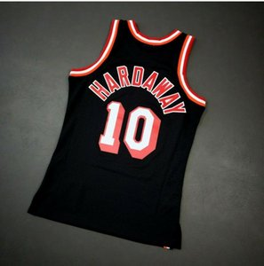Custom Men Youth women VintageTim Hardaway Mitchell Ness 96 97 College Basketball Jersey Size S-4XL or custom any name or number jersey