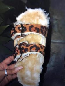 Moda selvaggia inverno nuova casa calda leopardo capelli Fur pantofole dei sandali 2019 scarpe Bom Dia nuove donne di modo universale Pantofole