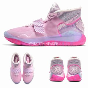 2020 Yeni KD 12 Ne Teyzem Basketbol Ayakkabı KD12 Kevin Durant XII pembe Mens Eğitmenler Sneakers Boyut 7-12