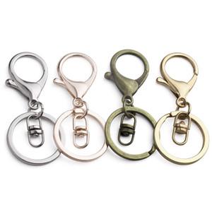 CLASP LOBSTER BLASP CLEYCHAIN серебряный античный бронзовый цинковый сплав ключ ключевой крючок для автомобильного ключа кольца цепь DIY аксессуары изготовления ювелирных изделий для ключей 21 * 35 мм