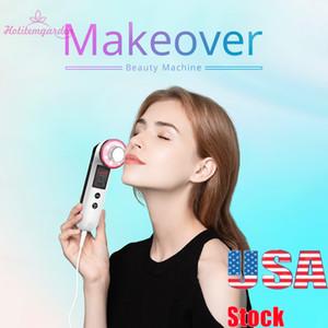 Promoção 3MHz ultra-sónico Ion 7 Cores Led Light Photon pele aperto Vibrar Lifting Facial rugas remoção beleza máquina portátil