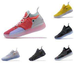 KD 11 Basketbol Ayakkabı erkek ayakkabı tasarımcısı Yakınlaştırma Kevin Durant 11'ler ayakkabı beyaz kırmızı lüks EP Elite Düşük Sneakers runn