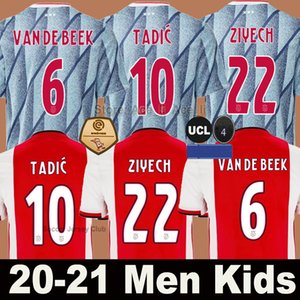 20 21 Ajax FC calcio assente Jersey PROMES Ajax Amsterdam VAN DE BEEK Neres 2020 2021 TADIC ZIYECH FOOTBALL SHIRT MEN + kids kit SET uniforme