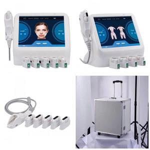 얼굴 리프팅 및 바디 슬리밍 5 개 HIFU 카트리지 전문 ultherapy 기계 HIFU 얼굴 리프팅