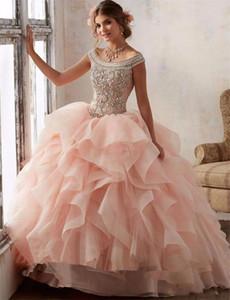 Великолепное бальное платье Quinceanera Платья 2019 бисером Crystal Sweet 16 платье Vestidos De 15 Anos выполненное на заказ маскарадное бальное платье