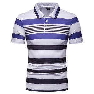 Panelled Summer Mens Polos Contrast Color Lapel Neck Slim Summer Casual Tees Straight Short Sleeve Regular Mens Designer Polos