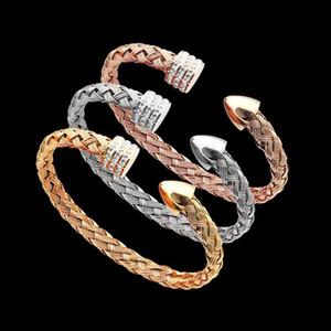 Monili del regalo del partito Il braccialetto delle donne proiettile braccialetto di diamanti donne AU750 argento in oro rosa Bracciali