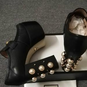 2019 новая мода женская обувь высокого качества сандалии 35-41 дизайнер классический стиль высокие каблуки европейский модный тренд станции (с коробкой)