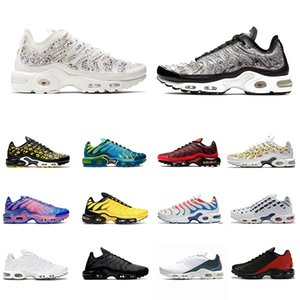 Nike Air Max Plus TN Stock X All Over Print TN plus se mens running shoes Fade Phantom trainers OG triple black white Rock Pebbles men sports designer sneakers