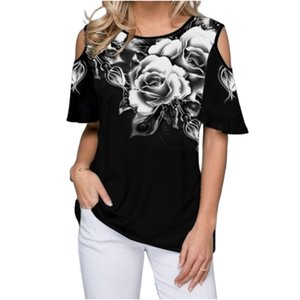 2020 3D Print Tshirt Short Sleeve Women 2020 New Arrival Casual Summer Tees Off The Shoulder Loose T-Shirts 4XL 5XL Camiseta Mujer