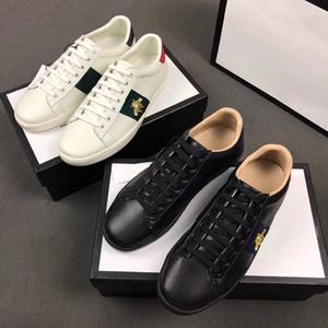Designer Brand Schuhe 100% Ace Leder Sneaker Blume Bestickte Python Tiger Biene Hahn Männer Frauen Klassische Trainer Liebe Sneakers SZ 5-11