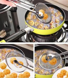 Nueva cuchara de filtro multifuncional con clip de cocina de cocina con freír bbq filtro de bbq acero inoxidable colador herramientas de cocina DA174