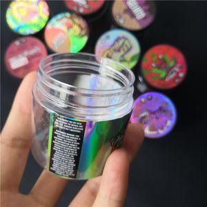 Nuovo ologramma adesivo con 3,5 grammi 60ml Thin Mint Cookie plastica serbatoio vaso asciutto erba fiore Contenitore con adesivi