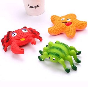 Pet Dog Toys para Cães Gatos Pet Squeak Brinquedos Latex Caranguejo Starfish Pet Cachorro Mastigar Brinquedos Dog Crabs Spiders Starfish Suprimentos
