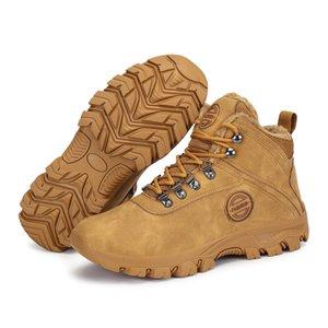 Scarpe invernali Uomini Snow Boots Outdoor caldo pelle peluche Flock Calzari Ragazzo Stivaletti uomo all'aperto Sneakers piani della piattaforma Botas