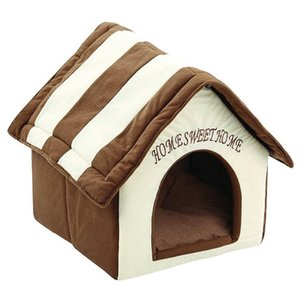 Home Sweet Home Pet Kennel Dog House Plüsch Hund Hauskatze Bed Supplies