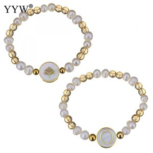 Stainless Steel Tree Of Life Jewelry Charm Bracelet For Women  Plastic Pearl Bracelets White Shell Gold Color  Unisex