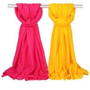 Женщины Solid Sarong шарфов 180 * 100 см 36 цветов Пляж Обычный хлопок белье шелковый шарф Солнцезащитный шаль Мягкая Wrap Long косынку OOA7581