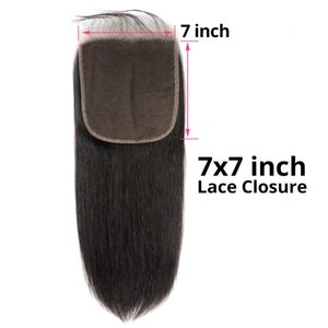 Brésilien Vierge Cheveux 7X7 dentelle fermeture Nouveaux produits cheveux 8-22inch Haut Droit Cheveux Closures Seven By Seven