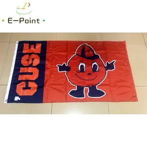 Bandera de NCAA Syracuse Orange 3 pies * 5 pies (150 cm * 90 cm) Bandera Bandera decoración volando a casa Gard