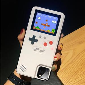Pantalla a todo color caja del teléfono de Game Boy para el iphone 11 Pro MAX caso de la contraportada retro Tetris juego para iPhone XS MAX 6 7 8 + X XR