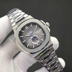 18 цветов высокого качества Часы Nautilus 5726 Механические Автоматические Мужские Часы Moon Phase Месяц кожаные ремни Все функции Рабочая 40,5