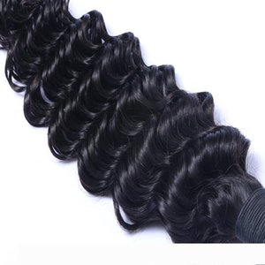 "Deep Wave Brazilian Virgin Hair 100% Human Hair Weave Bundles Hair Weaving Extensions Natural Color 10""-28"""