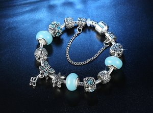 Pulsera de cristal del regalo del día de San Valentín DIY de la mariposa de la astilla de la pulsera moldeada Amor 18.5cm XD23059 joyería caliente de la venta