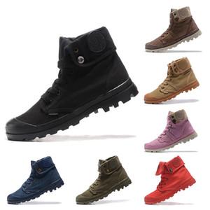 Классический Палладий Pallabrouse High Army Military лодыжки мужчины ботинки женщин холст кроссовки на открытом воздухе Человек против скольжения Повседневная обувь 36-45