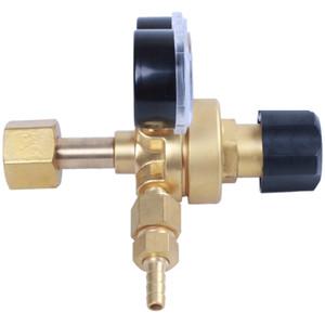 Freeshipping Mini Argon Co2 Gas Bottle Pressure Regulator Mig Tig Welding Flow Meter Gauge W21.8 1 4 Thread 0-20 Mpa