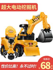 Childrens elettrico scorrevole per escavatori Ragazzi Toy Car escavatore può Sit and Ride Grande escavatore Hook Ingegneria Car
