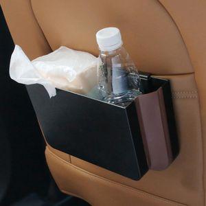 Inovador Trash Can Car Organizer Lixo Car Holder Suprimentos dobrável armazenamento Bin Box Trash Can Automobile recipientes de armazenamento