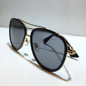 0062 النظارات الشمسية للمرأة الكلاسيكية المعدنية أزياء الصيف نمط واللوح الخشبي الإطار العين شعبية نظارات أعلى جودة النظارات الأشعة فوق البنفسجية حماية عدسة