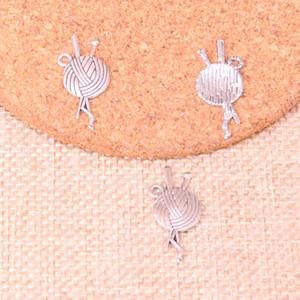 133pcs fascini sfera del filato maglia uncinetto 26 * 12mm antico ciondolo in forma Fare, d'argento tibetani, gioielli artigianali fai da te