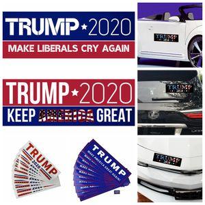 Trump Autocollants voiture 8 Styles 22 * 6.5cm PVC DIY Keep America Great Styling Autocollants pour voiture 10pcs / set OOA7067-1