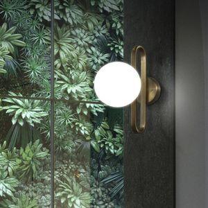 Nordic Led Bedside Wall Lights Creative Retro Brass Molecule Design Kitchen Foyer Study Room Decorativo aplique de pared Iluminación